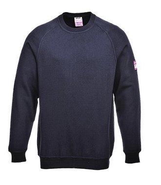 FR12 - Flame Resistant Anti-Static Long Sleeve Sweatshirt - Navy - R