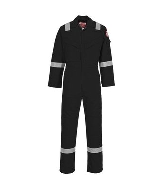 FR21 - Flame Resistant Super Light Weight Anti-Static Coverall 210g - Black - R