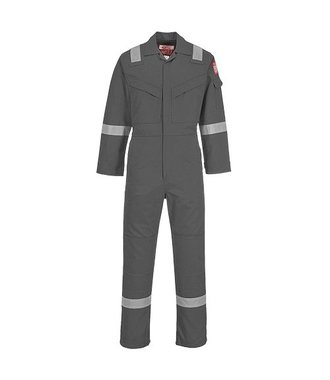 FR21 - Flame Resistant Super Light Weight Anti-Static Coverall 210g - Grey - R