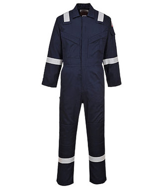 FR21 - Flame Resistant Super Light Weight Anti-Static Coverall 210g - Navy - R