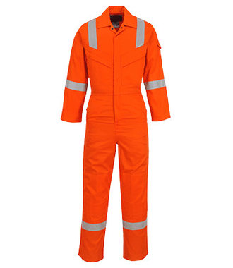 FR21 - Flame Resistant Super Light Weight Anti-Static Coverall 210g - Orange - R