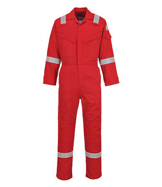FR21 - Flame Resistant Super Light Weight Anti-Static Coverall 210g - Red - R