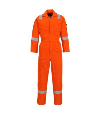FR28 - Flame Resistant Light Weight Anti-Static Coverall 280g - Orange - R