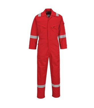 FR28 - Flame Resistant Light Weight Anti-Static Coverall 280g - Red - R