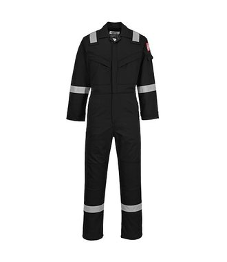 FR50 - Flame Resistant Anti-Static Coverall 350g - Black - R