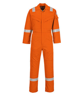 FR50 - Flame Resistant Anti-Static Coverall 350g - Orange - R