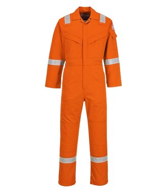 FR50 - Flame Resistant Anti-Static Coverall 350g - OrangT - T