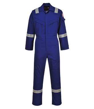 FR50 - Flame Resistant Anti-Static Coverall 350g - Royal1 - 1