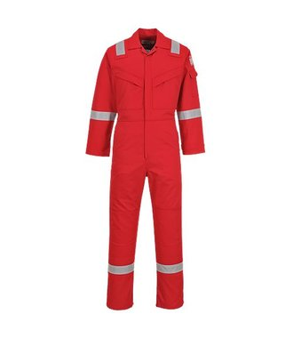 FR50 - Flame Resistant Anti-Static Coverall 350g - Red - R