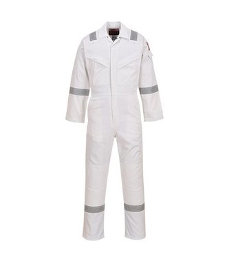 FR50 - Flame Resistant Anti-Static Coverall 350g - White - R