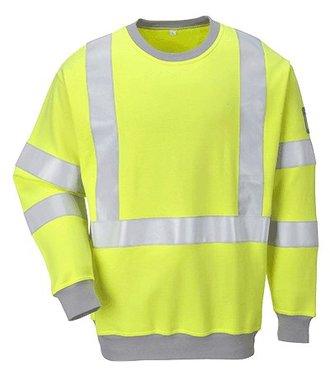 FR72 - Flame Resistant Anti-Static Hi-Vis Sweatshirt - Yellow - R