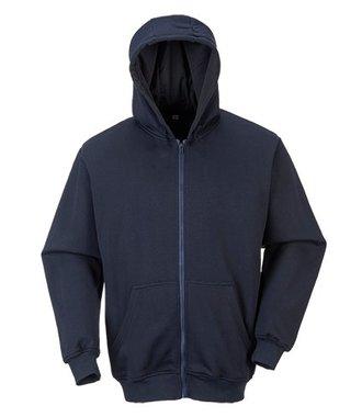 FR81 - FR Zip Front Hooded Sweatshirt - Navy - R