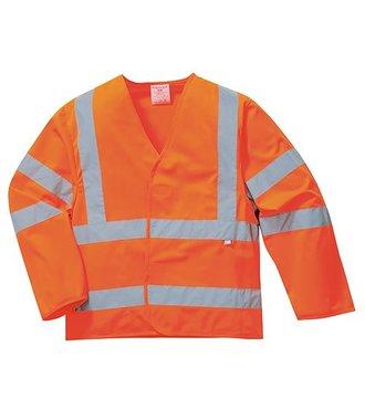 FR85 - Veste anti-statique Hi-Vis - Résistante à la flamme - Orange - R