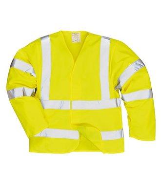 FR85 - Hi-Vis Anti Static Jacket - Flame Resistant - Yellow - R