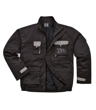 TX18 - Portwest Texo Contrast Jacket - Lined - Black - R
