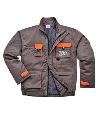 TX18 - Portwest Texo Contrast Jacket - Lined - Grey - R