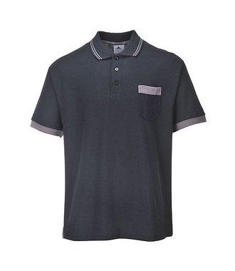 TX20 - Portwest Texo Contrast Polo Shirt - Black - R
