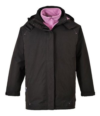 S571 - Elgin 3 in 1 Ladies Jacket - Black - R