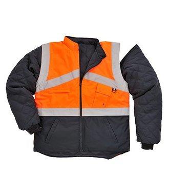 S769 - Hi-Vis 2-Tone Jacket - Reversible - OrNa - R