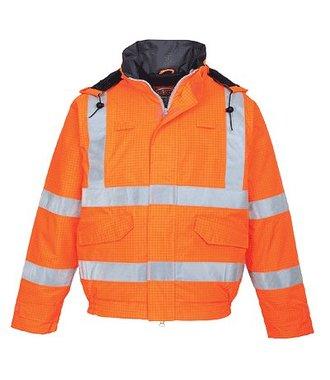 S773 - Bizflame Regen-Warnschutz Piloten-Jacke - Orange - R