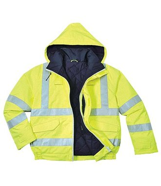 S773 - Bizflame Regen-Warnschutz Piloten-Jacke - Yellow - R