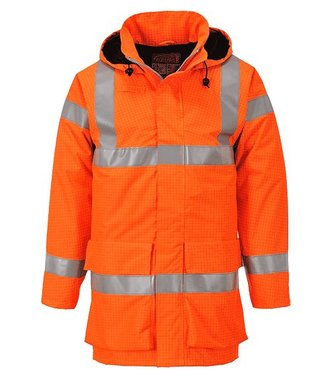 S774 - Veste de pluie hi-vis multi lite Bizflame - Orange - R