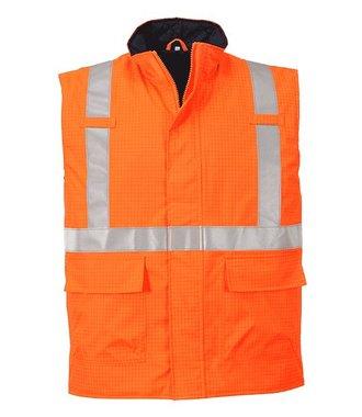 S776 - Bizflame Rain Hi-Vis Antistatic FR Bodywarmer - Orange - R