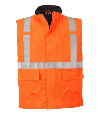 S776 - Bodywarmer Hi-Vis Bizflame antistatique et FR - Orange - R