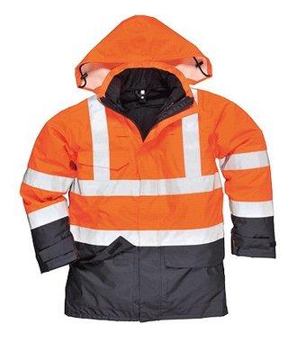 S779 - Bizflame Rain Hi-Vis Multi-Protection Jacket - OrNa - R