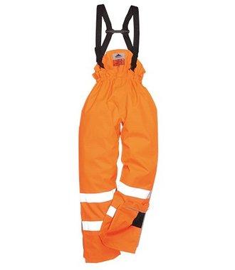 S780 - Bizflame Rain Unlined - Hi-Vis Antistatic FR Trouser - Orange - R