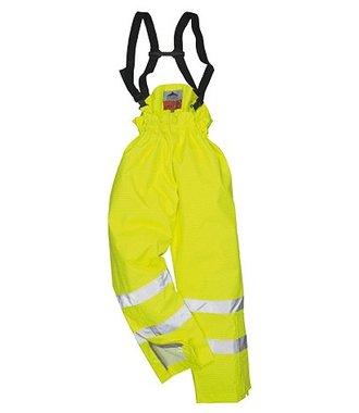 S780 - Bizflame Rain Unlined - Hi-Vis Antistatic FR Trouser - Yellow - R