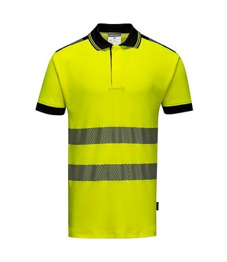 T180 - Hi-Vis Vision Polo Shirt - Yellow/black - R