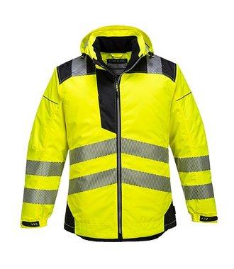 T400 - Vision Hi-Vis Rain Jacket - YeBk - R