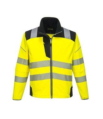 T402 - Vision Hi-Vis Softshell Jacket - YeBk - R