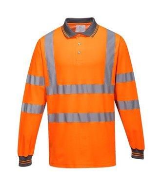 S271 - Long Sleeved Cotton Comfort Polo - Orange - R