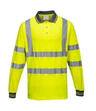 S271 - Long Sleeved Cotton Comfort Polo - Yellow - R