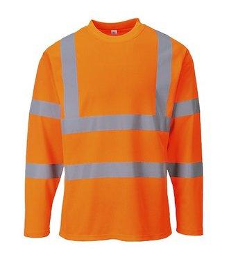 S278 - Hi-Vis Long Sleeved T-shirt - Orange - R