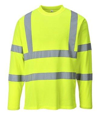 S278 - Hi-Vis Long Sleeved T-shirt - Yellow - R