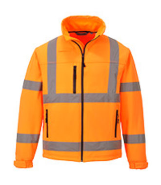 S424 - Hi-Vis Classic Softshell Jacket (3L) - Orange - R