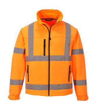 S424 - Hi-Vis Klassiek Softshell Jack (3L) - Orange - R
