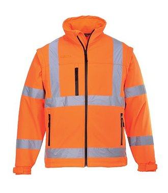 S428 - Hi-Vis Softshell Jack (3L) - Orange - R