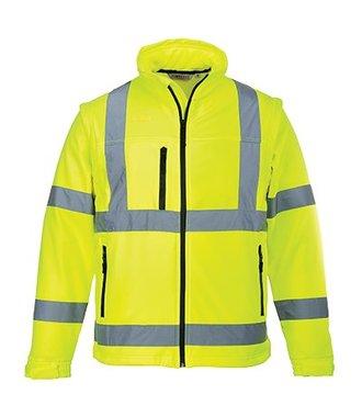 S428 - Hi-Vis Softshell Jacket (3L) - Yellow - R