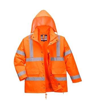 S468 - Hi-Vis 4-in-1 Traffic Jacket - Orange - R