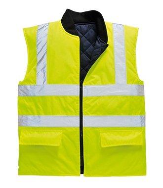 S469 - Hi-Vis Reversible Bodywarmer - Yellow - R
