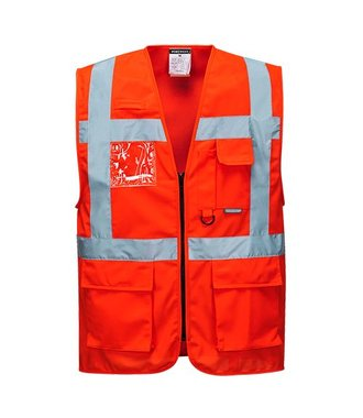 S476 - Berlin Executive Vest - Red - R
