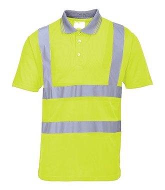 S477 - Hi-Vis Short Sleeve Polo - Yellow - R