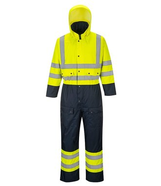 S485 - Hi-Vis Contrast Coverall - Lined - YeNa - R