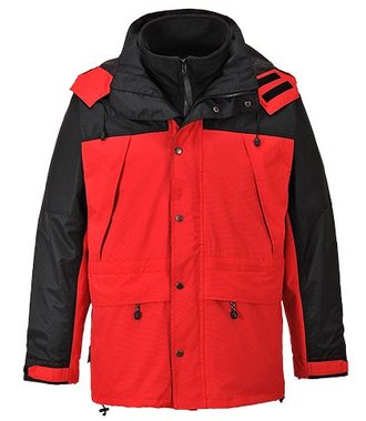 S532 - Orkney 3 in 1 Breathable Jacket - Red - R