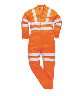 RT42 - Hi-Vis Poly-cotton Coverall RIS - Orange - R