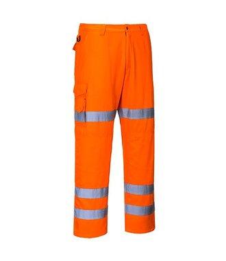 RT49 - HiVis Three Band Combat Trousers - Orange - R